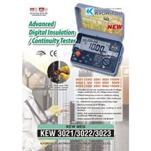 DIGITAL INSULATION-CONTINUITY TESTERS KEW 3021-2992 AND 3023