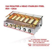 GAS ROASTER 6 HEAD STAINLESS STEEL ROS-GK23 FOMAC ( Mesin Pemanggang )