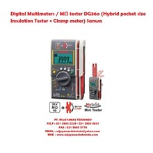 Digital Multimeters/MΩ tester DG36a (Hybrid pocket size Insulation Tester + Clamp meter) Sanwa