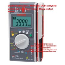 Digital Multimeters/MΩ tester DG34A (Hybrid pocket size Insulation Tester + Clamp meter) Sanwa