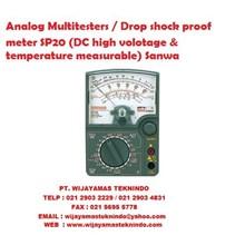 Analog Multitesters/Drop shock proof meter SP20 (DC high volotage & temperature measurable) Sanwa