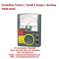 Insulation Testers/Small 3 ranges Analog PDM 1529S Sanwa