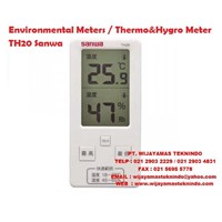 Environmental Meters/Thermo&Hygro Meter TH20 Sanwa