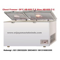 Chest Freezer  -26˚C AB-600-T-X Atau AB-600-T-C (Kulkas dan Freezer)