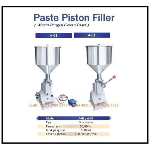 Mesin Pengisi Cairan Pasta A-02 / A03 Paste Piston Filler Mesin Pengisian