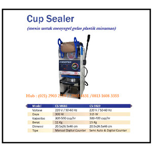 Dari Mesin Penyegel Gelas Plastik /Cup Sealer Machine CS-M686 & CS-S929 Mesin Press dan Bending 0