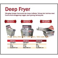 Alat Penggorengan / Deep Fryer FRY-G171 /FRY-G172 / FRY-GF18V Mesin Makanan dan Minuman Cepat Saji