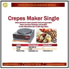 Mesin Pembuat Crepes / Crepes Maker Single CPB-JE1 / CPB-JE1R Mesin Penggorengan