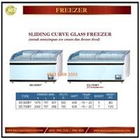 Pendingin / Penyimpan Es Krim / Sliding Curve Glass Freezer SD-500BY / SD-700BY Mesin Makanan dan Minuman Cepat Saji
