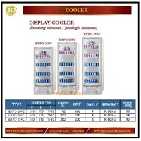 Pendingin Minuman / Pemajang Minuman / Display Cooler EXPO-26FC / EXPO-30FC/EXPO-37FC  Mesin Makanan dan Minuman Cepat Saji