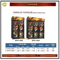 Jual Lemari Pemajang Bunga / Display Cooler (Flower Showcase) EXPO-1050F / EXPO-1500F Mesin Sirkulasi dan Pendingin
