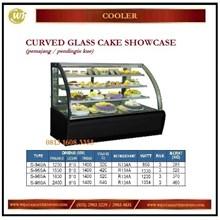 Pemajang / Pendingin Kue / Curved Glass Cake Showcase S-940A/ S-950A / S-960A / S-980A Mesin Makanan dan Minuman Cepat Saji