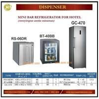 Jual Penyimpan Minuman / Mini Bar Refrigerator For Hotel RS-06DR / BT-40BB / GC-470 Mesin Makanan dan Minuman Cepat Saji