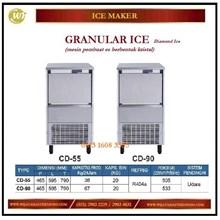 Mesin Pembuat Es Berbentuk Kristal / Granular Ice CD-55 / CD-90 diamond Ice Mesin Makanan dan Minuman Cepat Saji