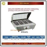Pemajang Es Krim / Gelato Showcase (Static Cooling) RTD-67L Mesin Makanan dan Minuman Cepat Saji