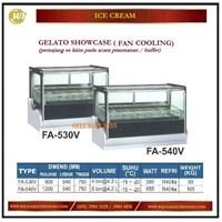 Pemajang Es krim / Gelato Showcase (Fan Cooling) FA-530V / FA-540V Mesin Makanan dan Minuman Cepat Saji