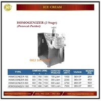 Jual Mesin Pemecah Partikel Agar Menjadi Halus / Homogenizer (2 Stage) HOMOGENIZER-100 / HONOGENIZER-300 / HOMOGENIZER-500 / HOMOGENIZER-1000 Mesin Pembuat Es Krim
