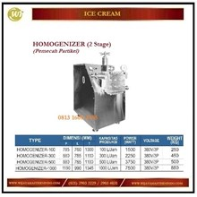 Mesin Pemecah Partikel Agar Menjadi Halus / Homogenizer (2 Stage) HOMOGENIZER-100 / HONOGENIZER-300 / HOMOGENIZER-500 / HOMOGENIZER-1000 Mesin Pembuat Es Krim