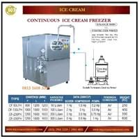 Jual Mesin Pembuat Hard Ice Cream Terus Menerus / Continuous Ice Cream Freezer CF-50LPH / 100LPH/ 200PH / 300PH Mesin Pembuat Es Krim