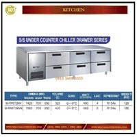 Jual Lemari Pendingin / SS Under Counter Chiller Drawer Series M-RW6T2NN / M-RW6T3NNN Mesin Makanan dan Minuman Cepat Saji