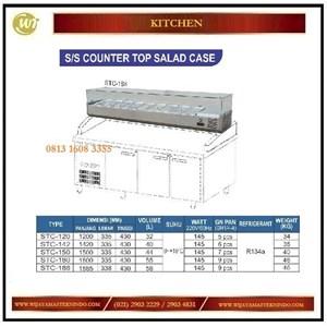 Dari Tempat Menaruh Topping / SS Counter Top Salad Case STC-120 / STC-142 / STC-150 / STC-180 / STC-188 Mesin Makanan dan Minuman Cepat Saji 0