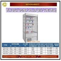 Lemari Pemajang Minuman / Multideck Opened Chiller (Self Contained) IRIS-100 / IRIS-125 / IRIS-200 / IRIS-250 Mesin Makanan dan Minuman Cepat Saji