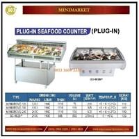 Pendingin Daging / Plug-In Seafood Counter MANGROVE-120 / MANGROVE-180 / MANGROVE-240 / SC-602BP Mesin Makanan dan Minuman Cepat Saji
