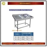 Pendingin Daging / Non Rerigrated Seafood Counter  SC-120 / SC-150 Mesin Makanan dan Minuman Cepat Saji