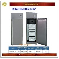Lemari Pendingin untuk  Ikan & Seafood / SS Fresh Fish Cabinet FISH -550-ID Mesin Makanan dan Minuman Cepat Saji