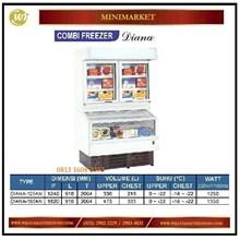Lemari pendingin Supermarket / Combi Freezer DIANA-125AN / DIANA-180AN Mesin Makanan dan Minuman Cepat Saji