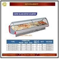Pemajang Buah & Minuman / Curve Glass Serve Counter HELICONIA RCA-125 / RCA-187 / RCA-250 / RCA-375 Mesin Makanan dan Minuman Cepat Saji
