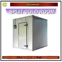 Jual Split Cold Room / Ruangan Pendingin atau Pembeku Mesin diluar Mesin Sirkulasi dan Pendingin