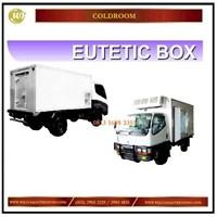 Eutetic Box / Box Freezer Pendingin di Mobil untuk Transportasi & Distribusi Mesin Sirkulasi dan Pendingin