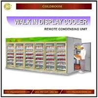 Dari Walk In Display Cooler With Remote Condensing Unit / Tempat Penyimpan Makanan & Minuman Berbaris / Gudang Pada Convenience Store  Mesin Sirkulasi dan Pendingin 0
