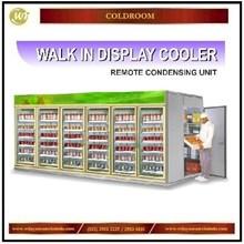 Walk In Display Cooler With Remote Condensing Unit / Tempat Penyimpan Makanan & Minuman Berbaris / Gudang Pada Convenience Store  Mesin Sirkulasi dan Pendingin