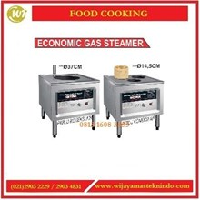 Kompor Pengukus Bak Pau & Dim Sum / Economic Gas Steamer F001 / F003 Mesin Penghangat Makanan