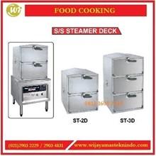 Alat Pengukus Bak Pau & Tim Sum / SS Steamer Deck ST-2D / ST-3D Mesin Penghangat Makanan