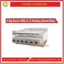 Pemanggang Daging / 6 Big Burner BBQ With 12 Roating Skewer (Sate) KG-44 Mesin Pemanggang