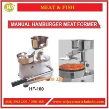 Alat Pembuat Hamburger  / Manual Hamburger Meat Former HF-100 Mesin Pengaduk