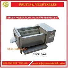 Mesin Pencuci Buah-buahan & Sayuran Berkulit Tebal / Brush Roller Root Fruit Washer / Peeler QX-608 / QX-612 / QX-618 / QX-818 Mesin Pengolah Buah dan Sayur