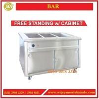 Jual Mesin Penghangat Makanan / Bain Marie Counter Free Standing With Cabinet BM-3 / BM-4 / BM-5 / B-6 Mesin Penghangat Makanan