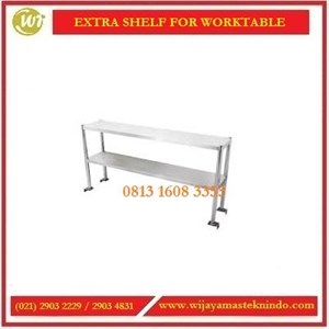 Rak Tambahan yang dipasang diatas meja / Extra Shelf For Worktable EWT-10 / EWT-12 / EWT-15 / EWT-18 / EWT-20 Table Top Self