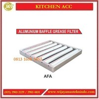 Alat Penyerap Partikel Lemak / Alumunium Baffle Grease Filter AFA Commercial Kitchen