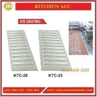 Cover Stainless Steel Penutup Drainase / Parit Dapur / SS Grating KTC-20 / KTC-25 Commercial Kitchen