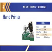 Mesin Pencetak Expired atau Tanngal Produksi / Hot Code Printer DY-6A Mesin Pengkodean