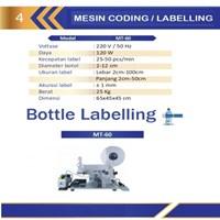 Mesin Labeling/Perekat Merk Kemasan Botol/Mesin Pencetak Label Botol MT-60 Semi Automatic Mesin Pengkodean