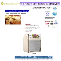 Upright Glass Door Freezer / LSD-86 / Showcase Ice Cream / Ice Cream Portable Freezer