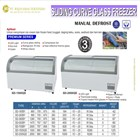 Sliding Curve Glass Freezer / Box Pendingin / Lemari Es Box SD-1500QS / SD-2000QS 1