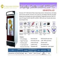 Display Cooler with LCD 45 / LEMARI PAJANGAN MINUMAN PAKAI LCD / USS-691DTKL-LCD