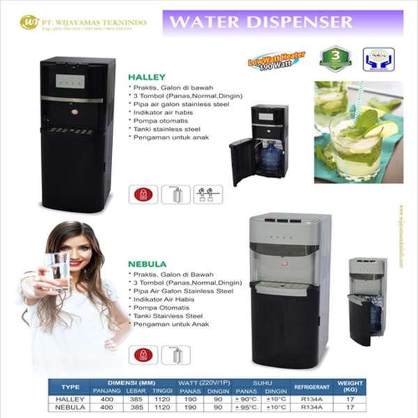 Dispenser Minuman / Water Dispenser / / Dispenser Air Minum / Dispenser Galon di Bawah / Halley / Nebula